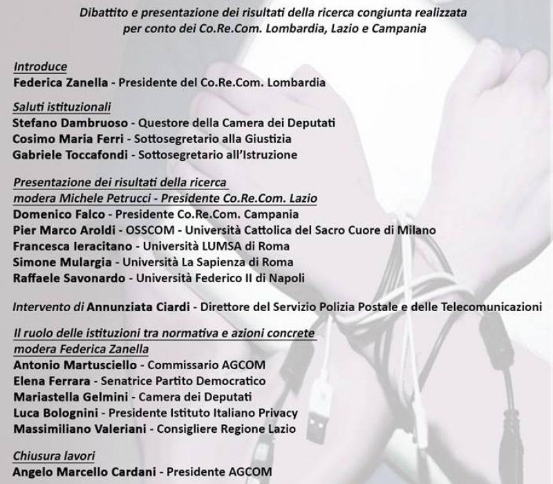 """Presentazione del Rapporto  """"Web reputation e comportamenti online degli adolescenti in Italia"""""""